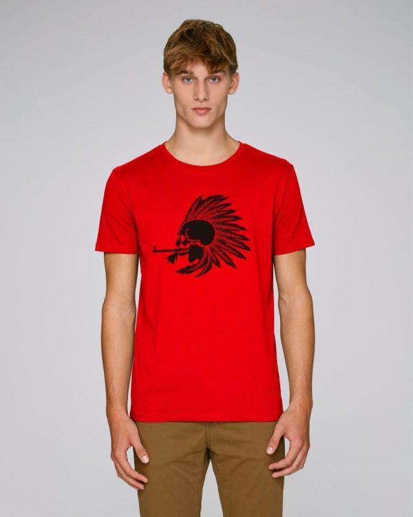 camiseta-roja-hombre-indian-pipe-bonealive