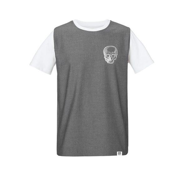 camiseta calavera false denim tee
