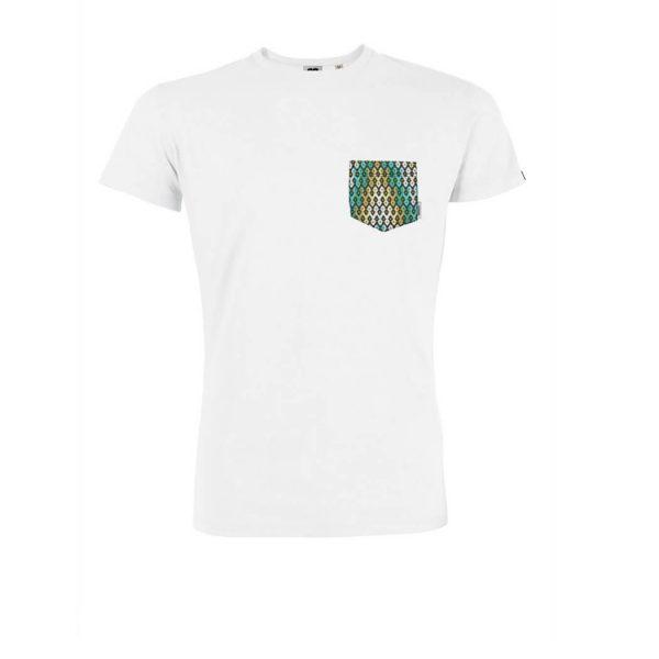 camiseta blanca con bolsillo