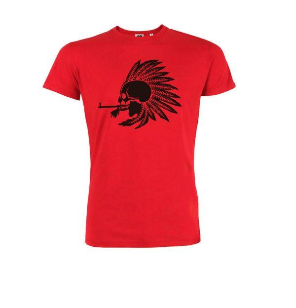 camiseta roja algodon orgánico