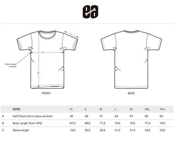 guia de tallas camisetas hombre