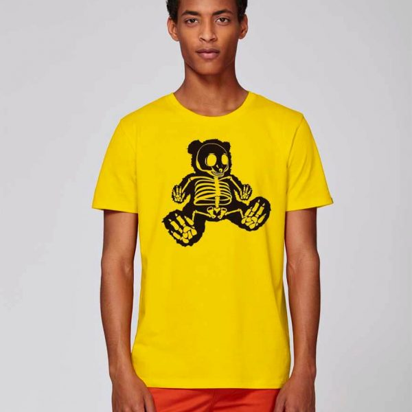camiseta amarilla estampado original bear hug | Bonealive