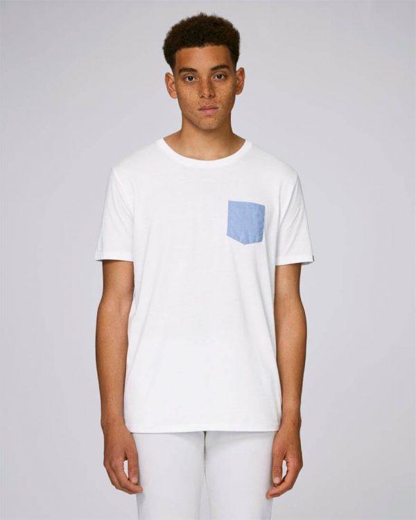 camiseta blanca bolsillo