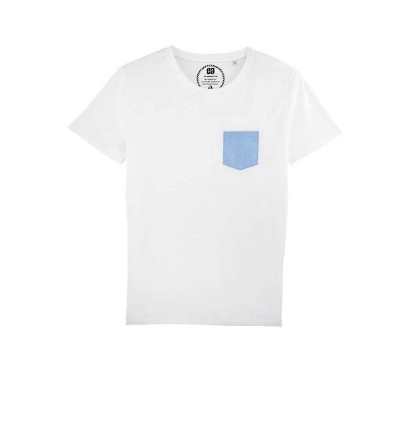 camiseta blanca bolsillo Bonealive