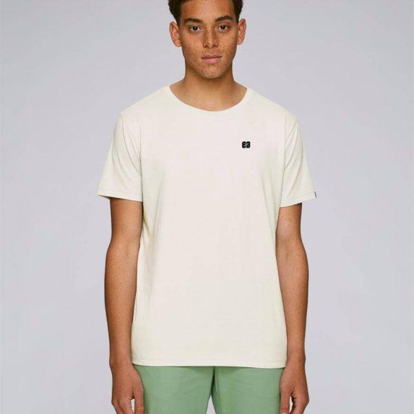 camiseta con bordado basic cream
