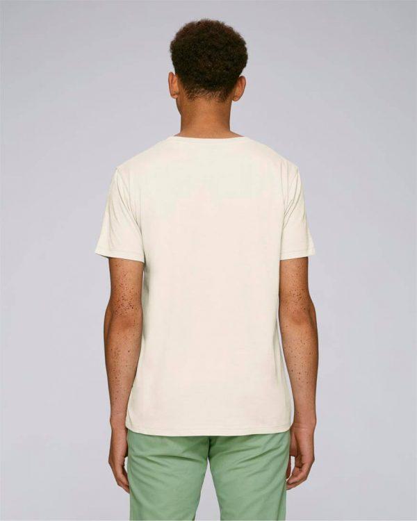 camiseta con bordado hombre basic cream