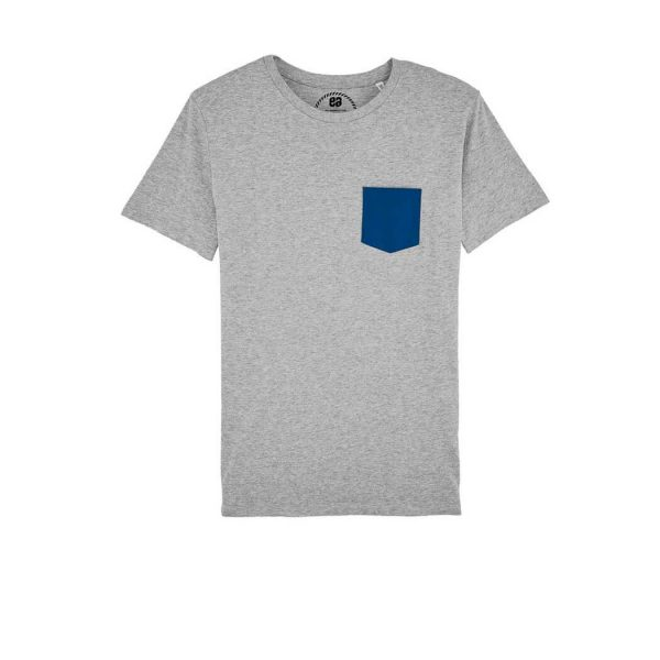 camiseta gris bolsillo Bonealive