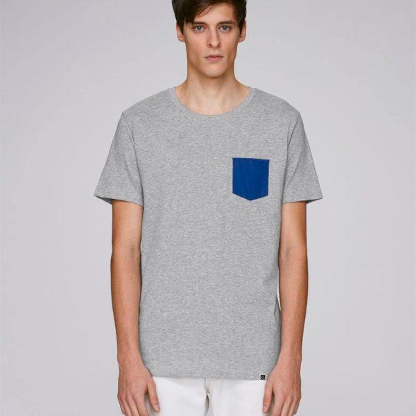 camiseta gris hombre