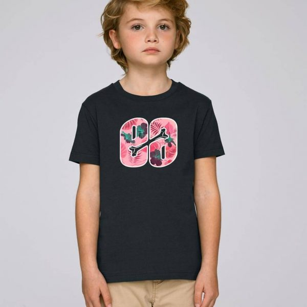 camiseta negra niño Bonealive