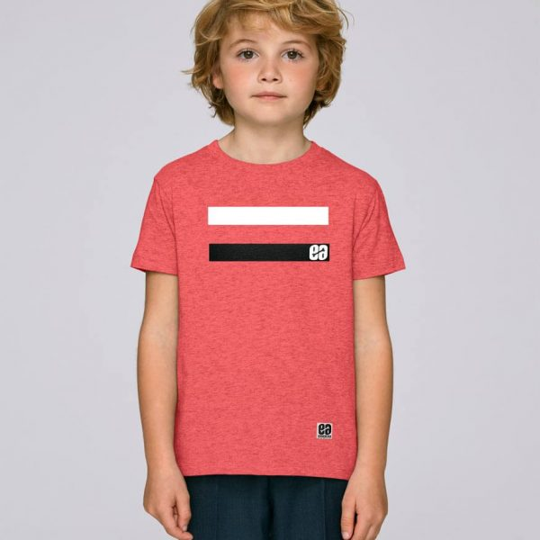 camiseta rayas niño essential red | Bonealive