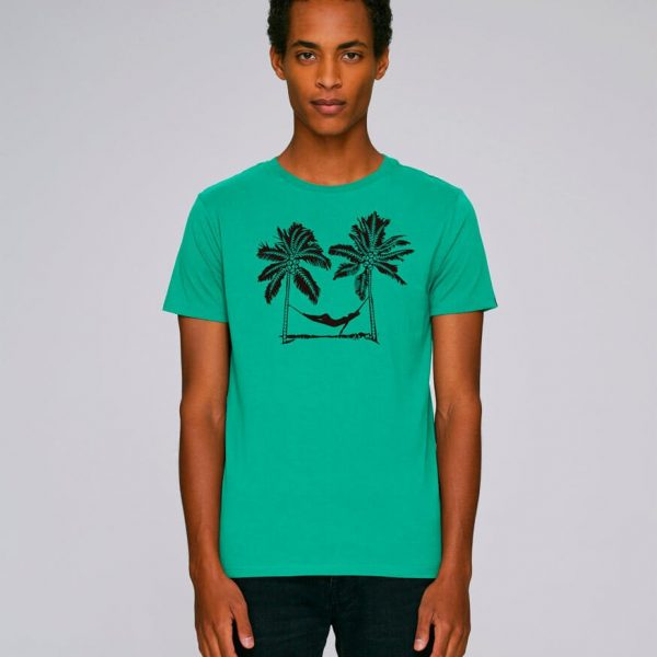 camiseta verde estampada pal beach | Bonealive
