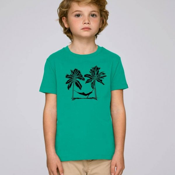 camiseta verde niño Palm Beach | Bonealive
