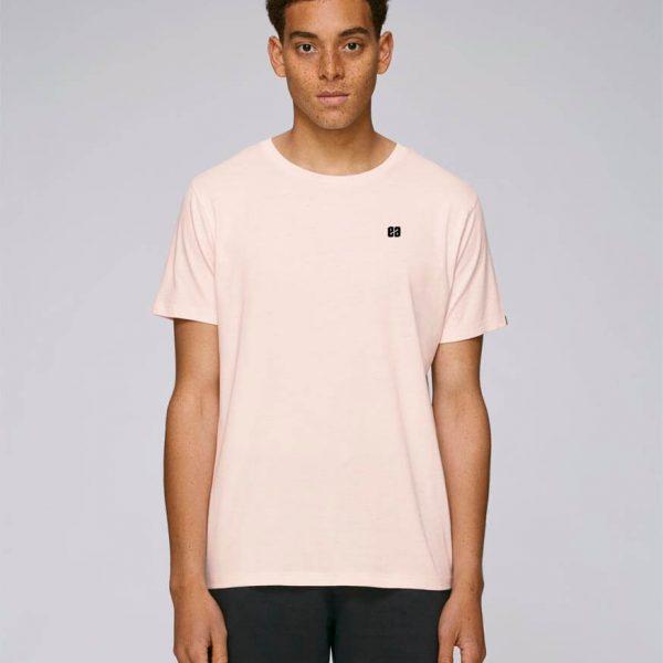 camiseta rosa hombre