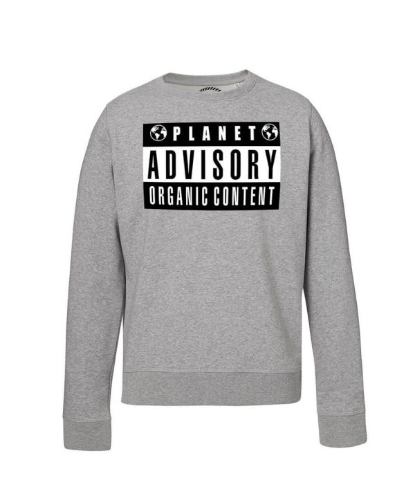 sudadera gris Planet Advisory Bonealive