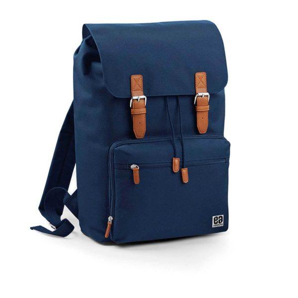 mochila cuadrada azul marino Bonealive