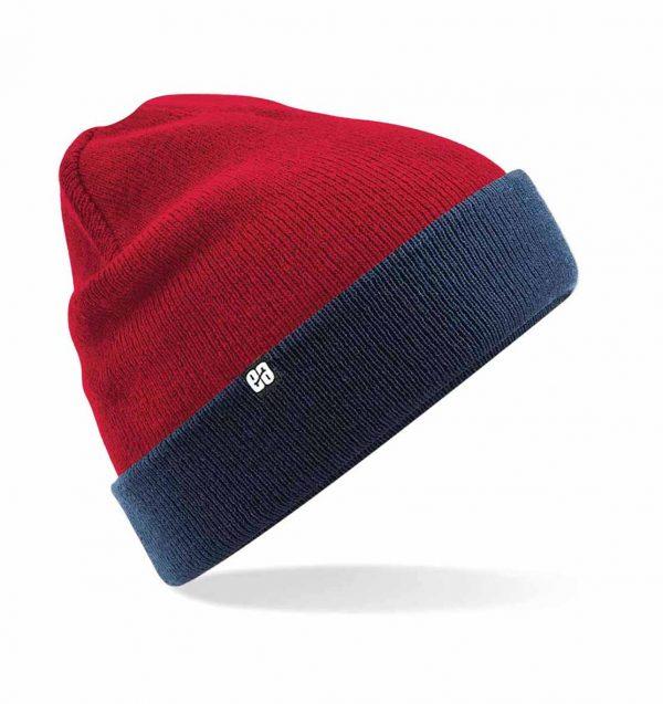 Beanie rojo y azul reversible | Comprar gorros online