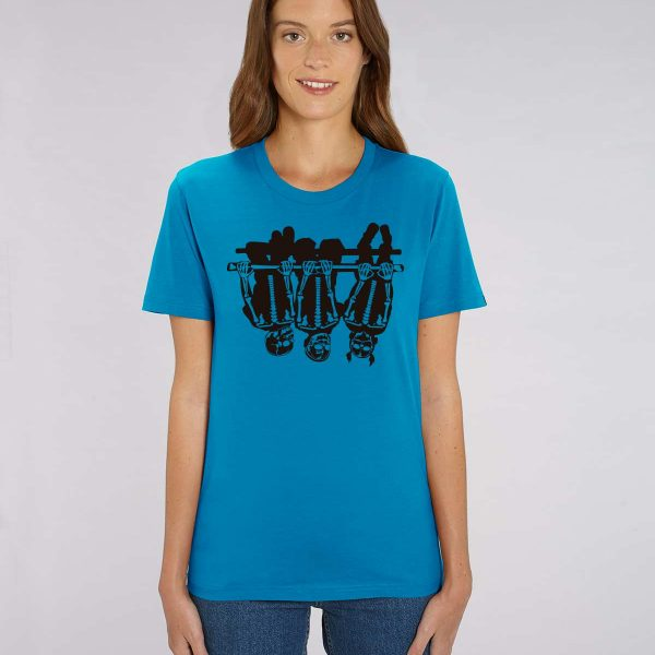 Camiseta azul electrico mujer Child Games