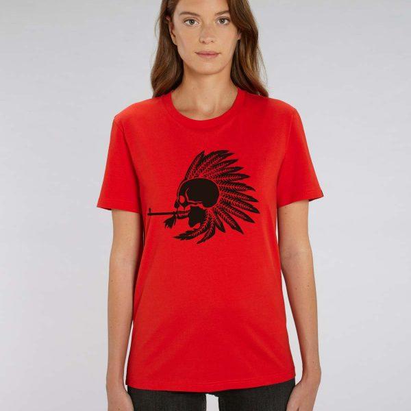 Camiseta roja mujer Indian Pipe