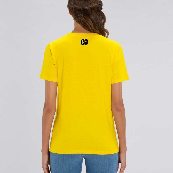 camiseta amarilla chica manga corta Bear Hug