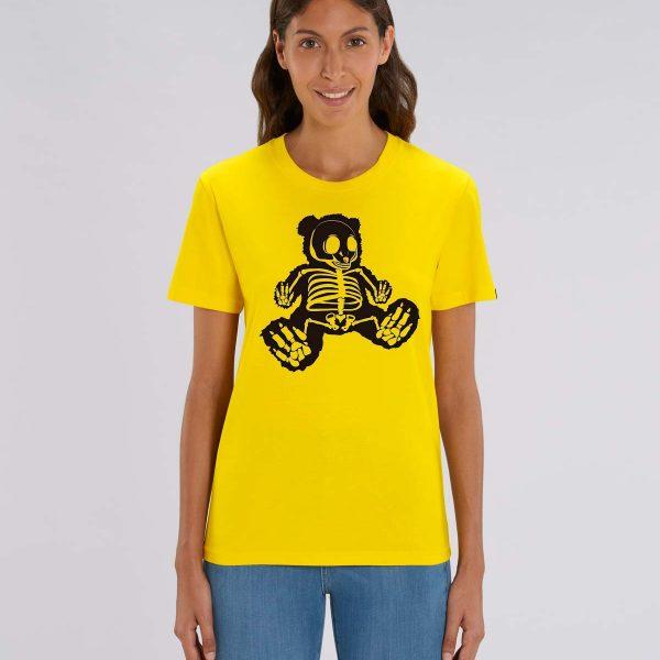 camiseta amarilla mujer manga corta Bear Hug